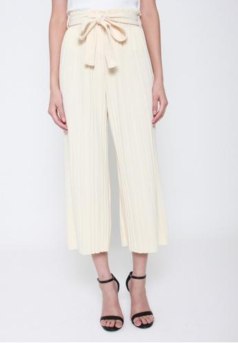 Sophialuv white Pretty Pleats Wide Leg Culottes in Vanilla 95205AAB33DDBBGS_1