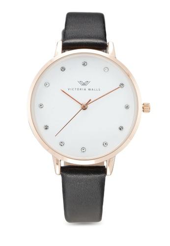 Victoria Walls Watches 黑色 Designer Watch-Elegant Leather Strap 66513AC587D9A0GS_1