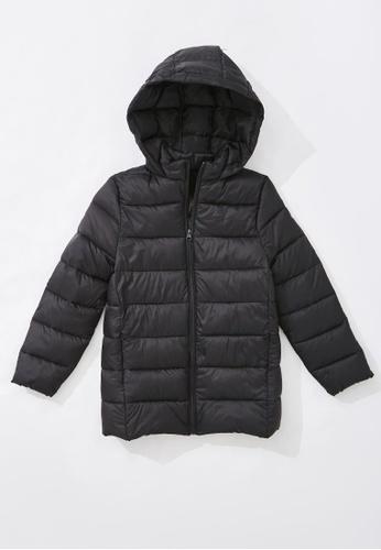 FOREVER 21 black Hooded Puffer Jacket 8E43BKA526456DGS_1