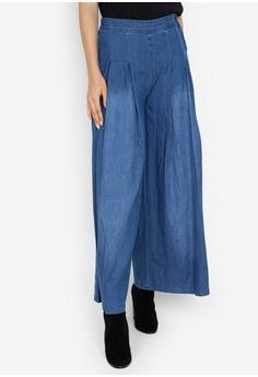 7bddd115a56 Chictees blue Flared Denim Pants 871E3AAE8971DAGS 1
