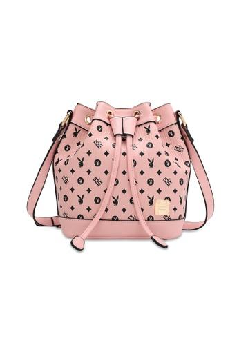PLAYBOY BUNNY pink Women's Sling Bag / Shoulder Bag / Crossbody Bag 23033AC70B8792GS_1