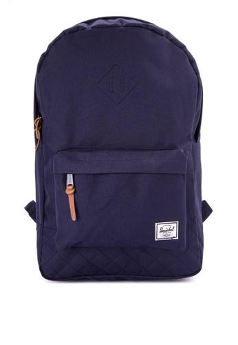 Herschel navy Heritage Backpack HE958AC0JZ7LPH_1