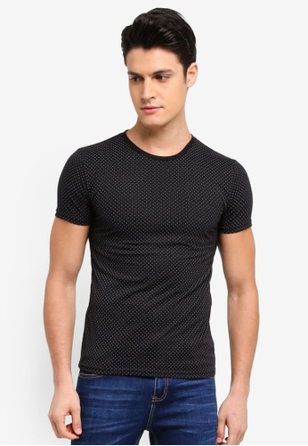 Penshoppe black All-Over Print T-Shirt 46880AAF1B52FDGS_1