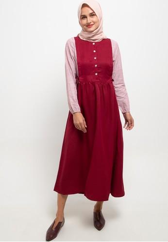 Cressida Ladies red Audy Dresses 8753EAA125AF04GS_1