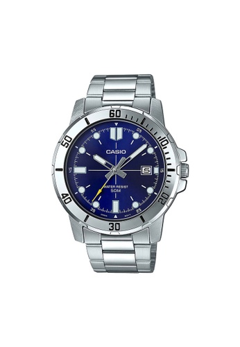 CASIO silver Casio Men's Analog MTP-VD01D-2EVUDF Stainless Steel Band Casual Watch E8180AC5C5B45CGS_1