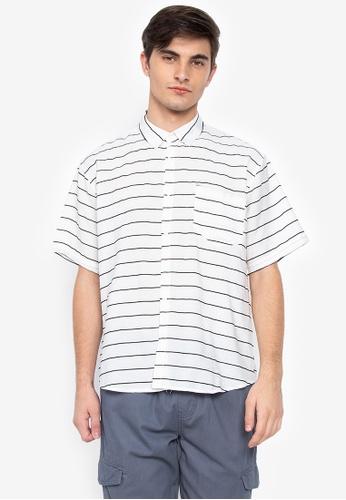43bd4cae1 Shop Chase Fashion Horizontal Stripes Loose Button Down Polo Online on  ZALORA Philippines