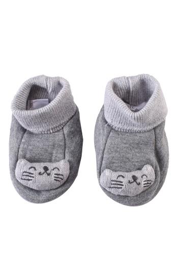 Du Pareil Au Même (DPAM) grey Melange Baby Booties 59C68KA15DD06DGS_1