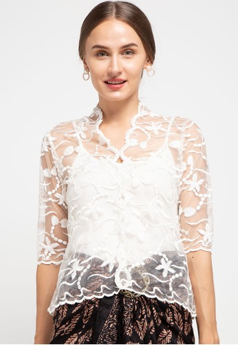 Batik First white Kebaya Crop 07CC5AAD36F030GS_1