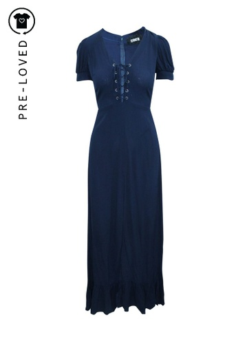 Reformation blue Pre-Loved reformation Maxi Blue Navy Dress with Front Tie 062DFAAF767E0AGS_1