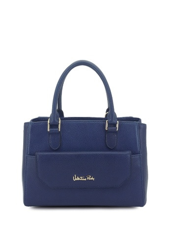 8776243352ea Valentino Rudy blue Valentino Rudy Hand-tipped Leather Top Handle Bag  9CA01AC65DC031GS 1