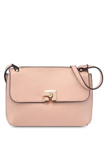 Mango pink Pebbled Cross-Body Bag 987D2ACEDA95DEGS_1