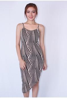 Spaghetti zebra print Dress