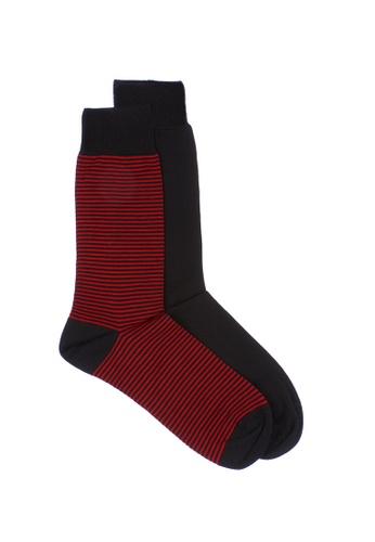 HOM black and red SIMON 2-PACK SOCKS D4FC3AA7F1FF92GS_1