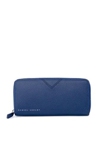 Samuel Ashley blue Max Zip-around Wallet - Ink 789DEACBC518DDGS_1