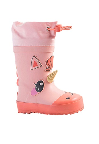 Twenty Eight Shoes pink VANSA Stylish Cartoon Rain Boots VSK-R19420 25BA7KS54729A4GS_1