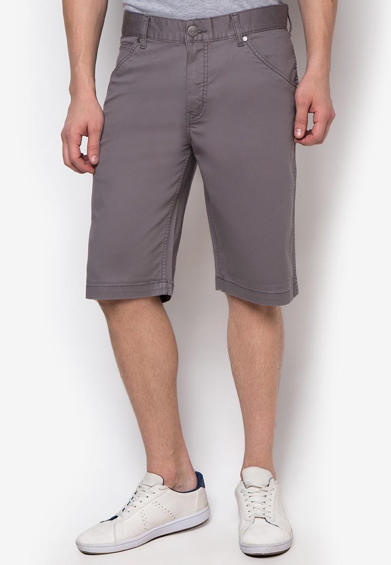 Gray Bedcord Shorts