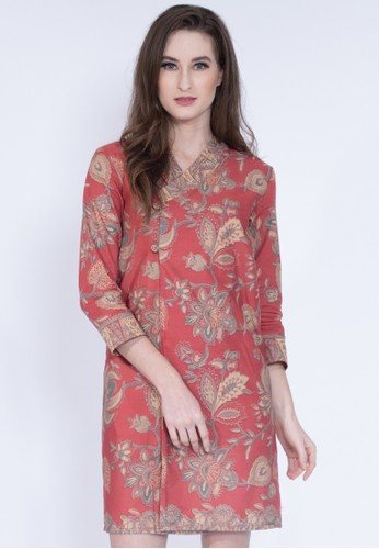 KICHI BATIK red Dress Batik Limar 36750AA67B0F77GS_1