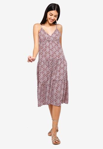 ZALORA pink and multi Layered Dress 6695CAAF3B83DBGS_1