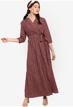 8c3479236 48% OFF Lubna Wrap Dress with Belt S$ 47.90 NOW S$ 24.90 Sizes XS S M L XL