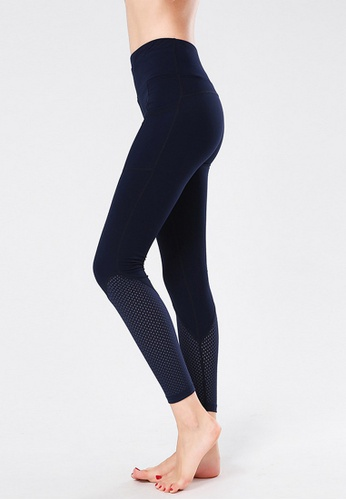B-Code navy ZYG3088-Lady Quick Drying Running Fitness Yoga Sports Leggings -Navy 9EA45AA7AD9B11GS_1