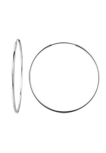 Elli Germany silver Silver Hoop Earrings EL474AC0RFH2MY_1