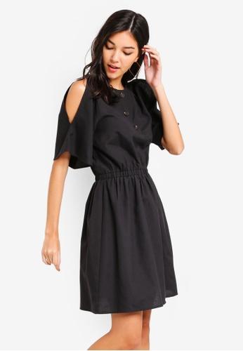 ZALORA black Slit Sleeves Dress A7896AA04B8F89GS_1