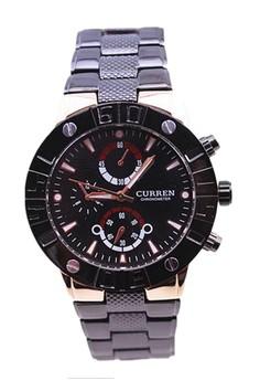 CURREN 8006 Men's Bezel Band Watch