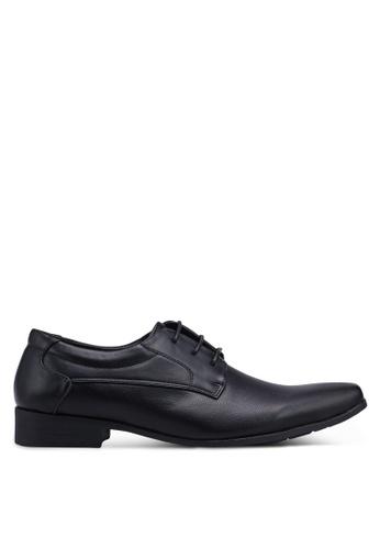 Louis Cuppers black Faux Leather Dress Shoes 61B83SH91E352CGS_1
