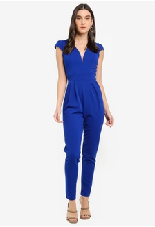 7dba9c6fd7b V-Neck Jumpsuit 4DBA3AA4FBB7A1GS 1