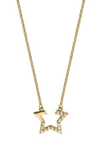 Esprit gold ESPRIT [Vivid Star] Gold Sterling Silver Necklace (42 cm + 3 cm extension) B2B67AC6FB9083GS_1