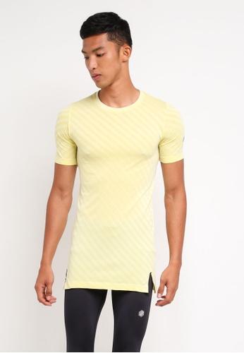 Asics yellow Seamless Short Sleeve Top AS989AA0SVQDMY_1