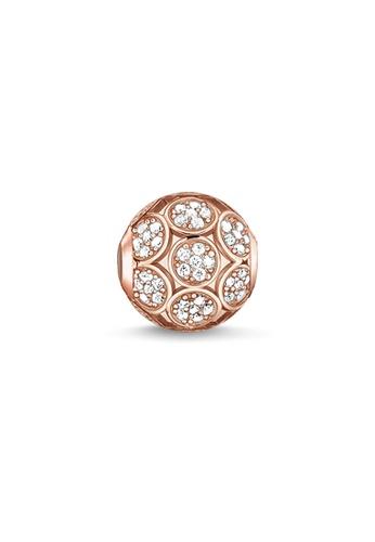 "THOMAS SABO gold Bead ""Sparkling Circles"" C24CCACF207479GS_1"