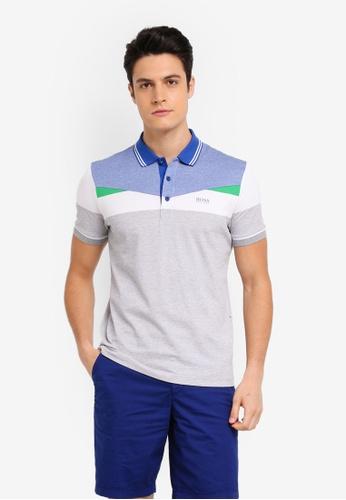 BOSS grey Paddy 6 Shirt - Boss Athleisure 20766AAAD02E32GS_1