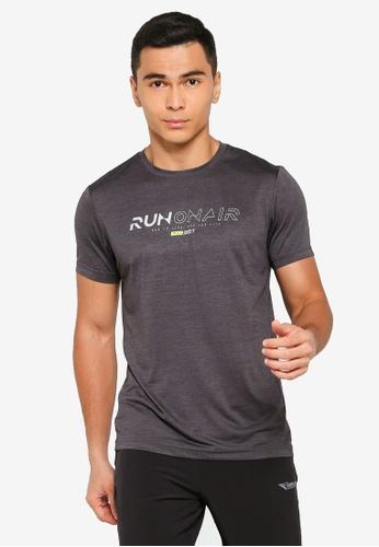 361° grey Running Series Short Sleeve T-Shirt 3D600AAE561F85GS_1