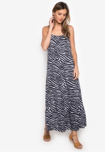 Georgina black Fonda Zebra Print Rayon Maxi Dress GE130US20AFBPH_1