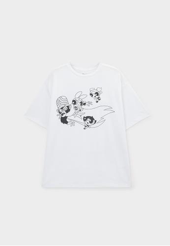 Pomelo white The Powerpuff Girls Graphic T-Shirt - White CE21EAA2F287C6GS_1