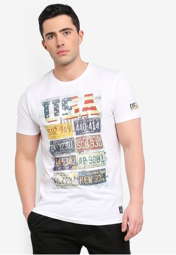 Brave Soul white Journey T-Shirt 31123AA89F34ECGS_1