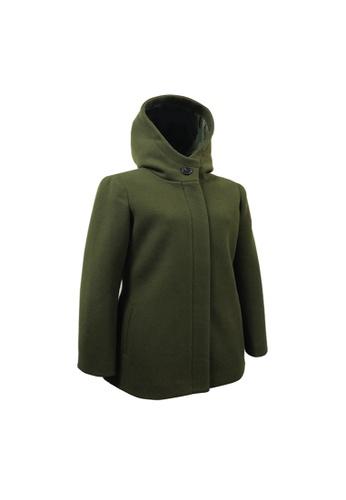 Universal Traveller green Universal Traveller Hooded Zip Front Coat 2C2CDAA6027738GS_1