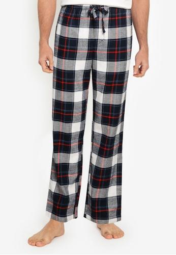 GAP multi Printed Flannel Pajama Bottom AC915AA593AFC1GS_1