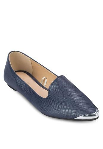 Tyrone 金屬尖頭平底鞋, 女鞋esprit 中文, 鞋