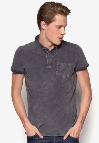 Polo Tinta Unita Discharge Polo Shirt, 服飾, esprit暢貨中心Polo衫