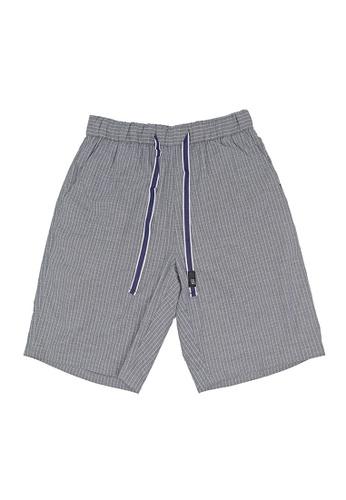 Private Stitch blue Private Stitch Men Casual Regular Fit Cotton Striped Short Pant 5F243AA2AA673BGS_1
