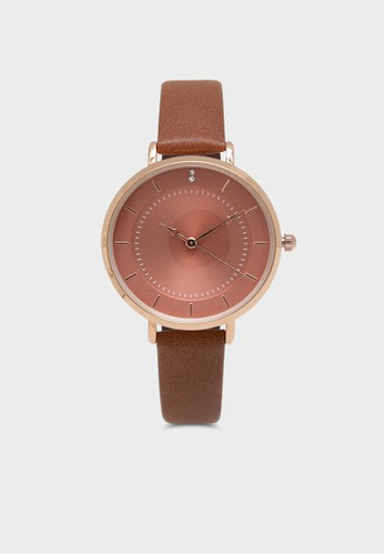 Berrybenka Label brown Brittany Janice Classic Watch Brown EB4E4ACEDA6AD3GS_1