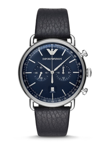 Armani blue Aviator Chronograph Watch AR11105 6579FAC0B4696DGS_1