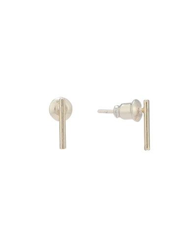 Orelia London gold Golden Plate Fine Bar Stud Earrings OR747AC0SC5PMY_1