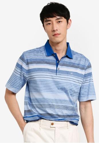 John Master blue John Master Casual Regular Fit 80/2 Mercerised Cotton Short Sleeve  Polo - Blue 8059619-L5 528D1AADC93892GS_1