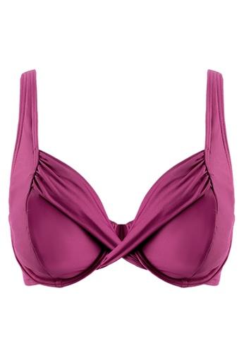 Sunseeker red Solids D Cup Underwire Bikini Top E64BDUS15A9F51GS_1