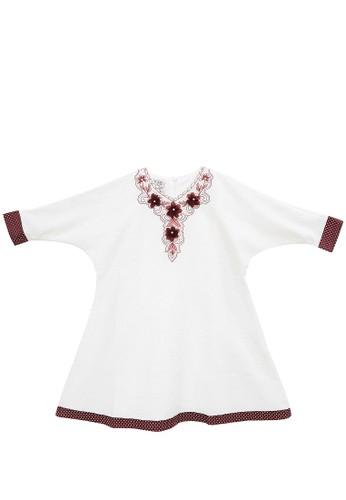 FIYORA red Delila Cotton Girl Dress Moslem 4F48EKAFE8FA04GS_1