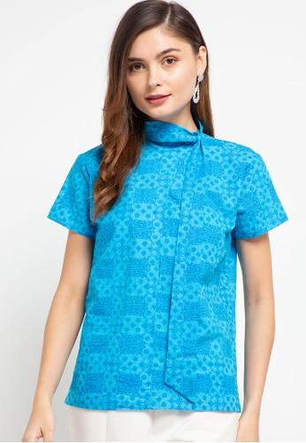 Batik First blue Blouse Collar Asymetris 05D13AACF44954GS_1