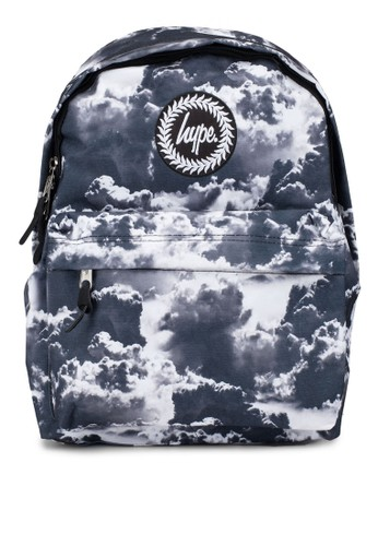 Just Hype black Mono Clouds Backpack D5EE4AC62FC679GS_1